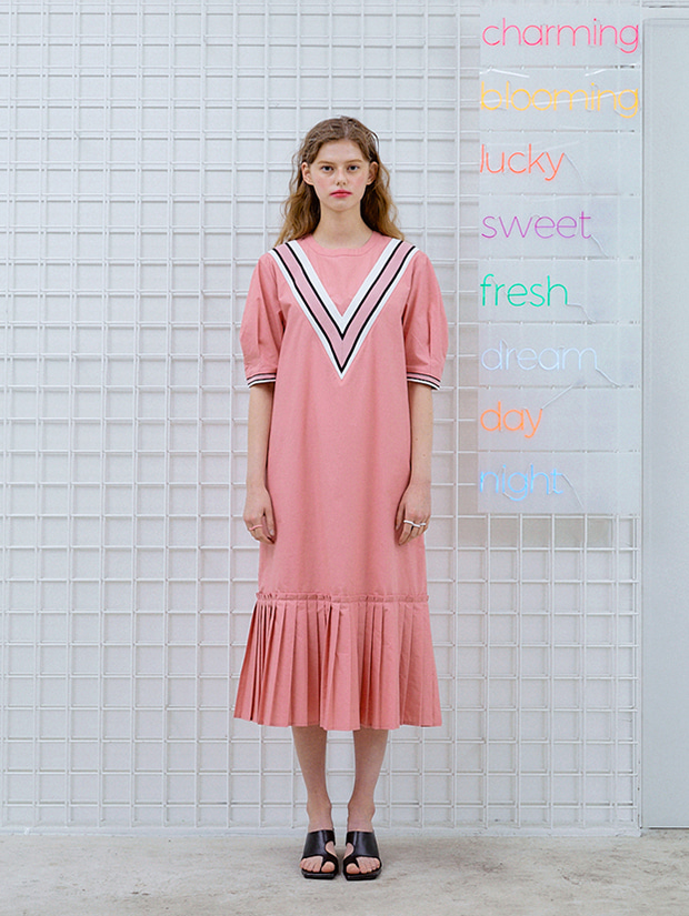20SS capsule LUCKY dress_PINK